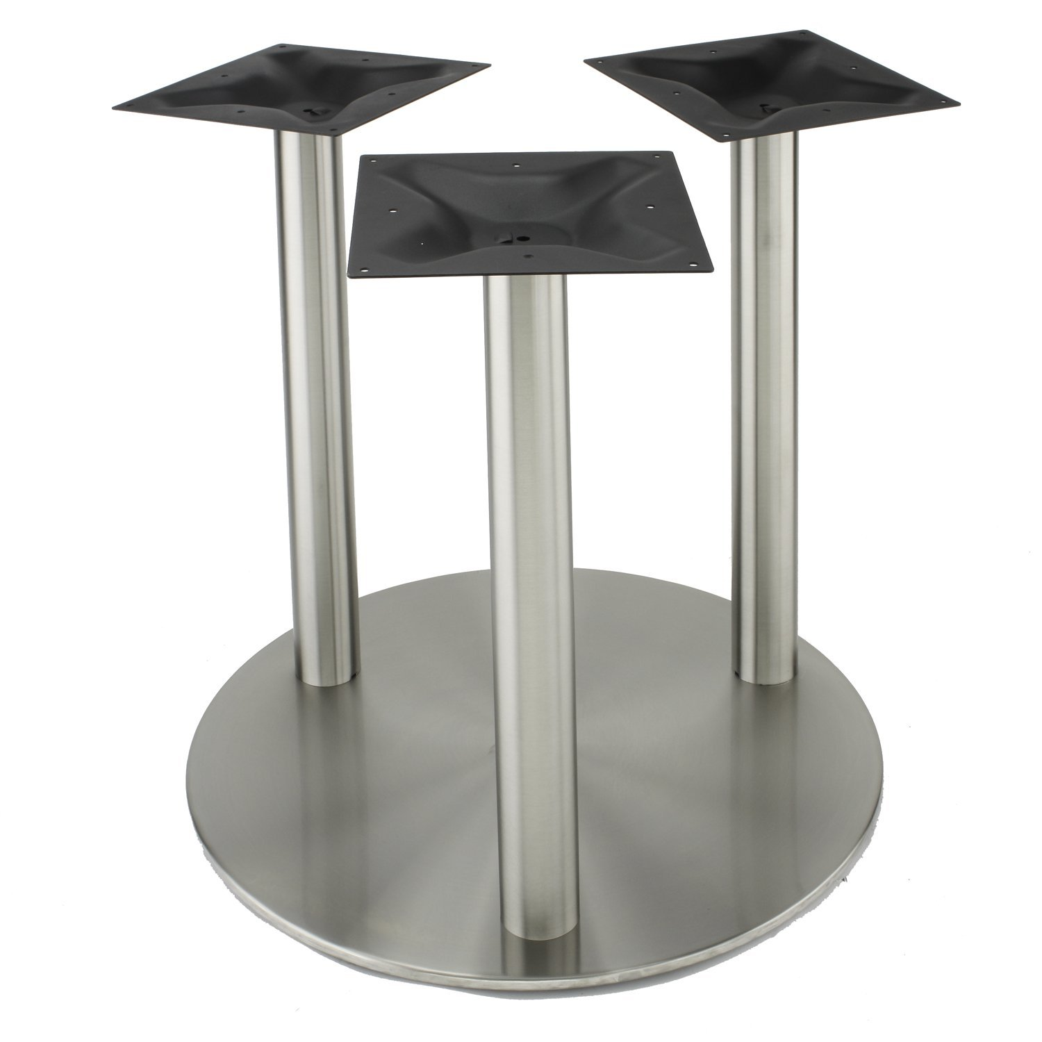 Kitchen Table Bases For Granite Tops 750 D3 Rfl Three Leg Stainlees Steel Table Base